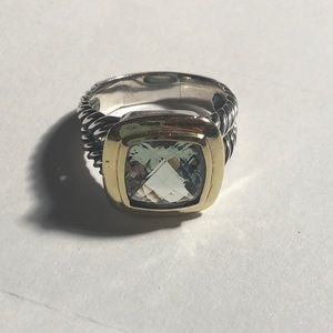 David Yurman Albion Ring Blue Topaz 18k Gold -8